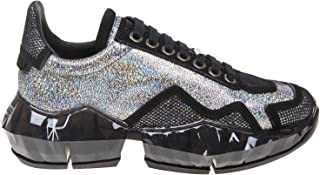 JIMMY CHOO Women's DIAMONDFHGH Silver Leather Sneakers