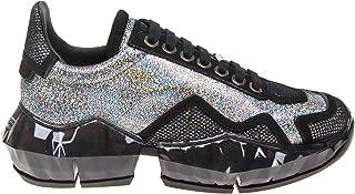 JIMMY CHOO Luxury Fashion Womens DIAMONDFHGH Silver Sneakers | Fall Winter 19