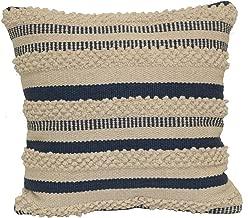 Brentwood Originals Textured Stripe Pillow, 18 x 18, Indigo Natural