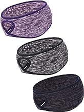 Blulu 3 Pieces Ponytail Headband Women Winter Headband Ear Warmer Running Headband for Women Girls Outdoor Sports, 3 Colors (Color Set 1, Size 1)