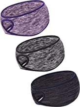 Blulu 3 Pieces Ponytail Headband Women Winter Headband Ear Warmer Running Headband for Women Girls Outdoor Sports