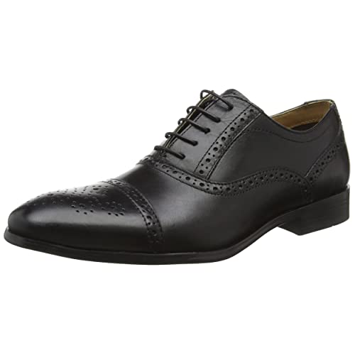 2ab3c593ec46 Red Tape Mens Hartwell Oxford Brogue Formal Shoe