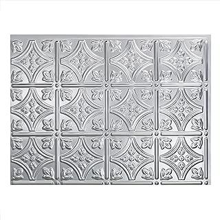 Fasade Easy Installation Traditional 1 Brushed Aluminum Backsplash Panel for Kitchen and Bathrooms (18