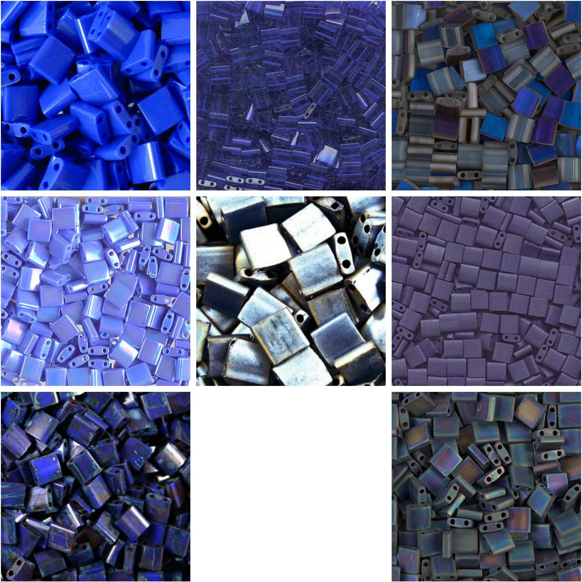 Also Called Matte Blue Gray Miyuki 2001 Half Tila Beads 12 Cut Tila Matte Gunmetal 5 Grams