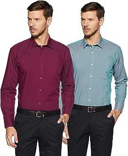 Amazon Brand - Symbol Men's Solid Regular Fit Formal Shirt (Combo Pack of 2)