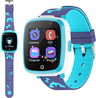 ETPARK Smart Watch, Orologio Intelligente per Bambini con Chat Vocale, Gioco Puzzle Telefono SOS Smart Watch con Sveglia F...