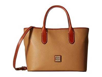 Dooney & Bourke Pebble Brielle (Desert w/ Tan Trim) Handbags