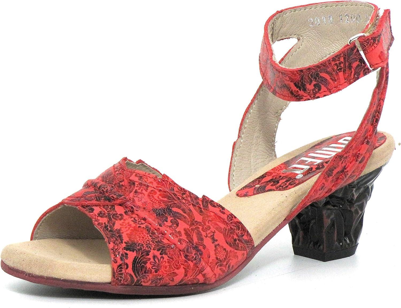 Simen Women Sandals red, (red-Kombi) 1200A