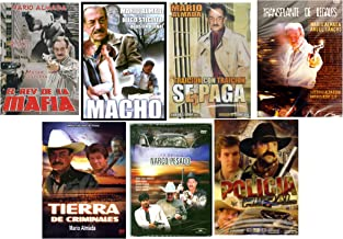 7 Different Spanish DVD's featuring MARIO ALMADA * 7 Peliculas