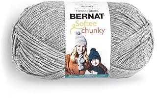 Bernat Big Ball Chunky Solid Yarn, 14oz, Super Bulky 6 Gauge, 100% Acrylic - Grey - Machine Wash & Dry