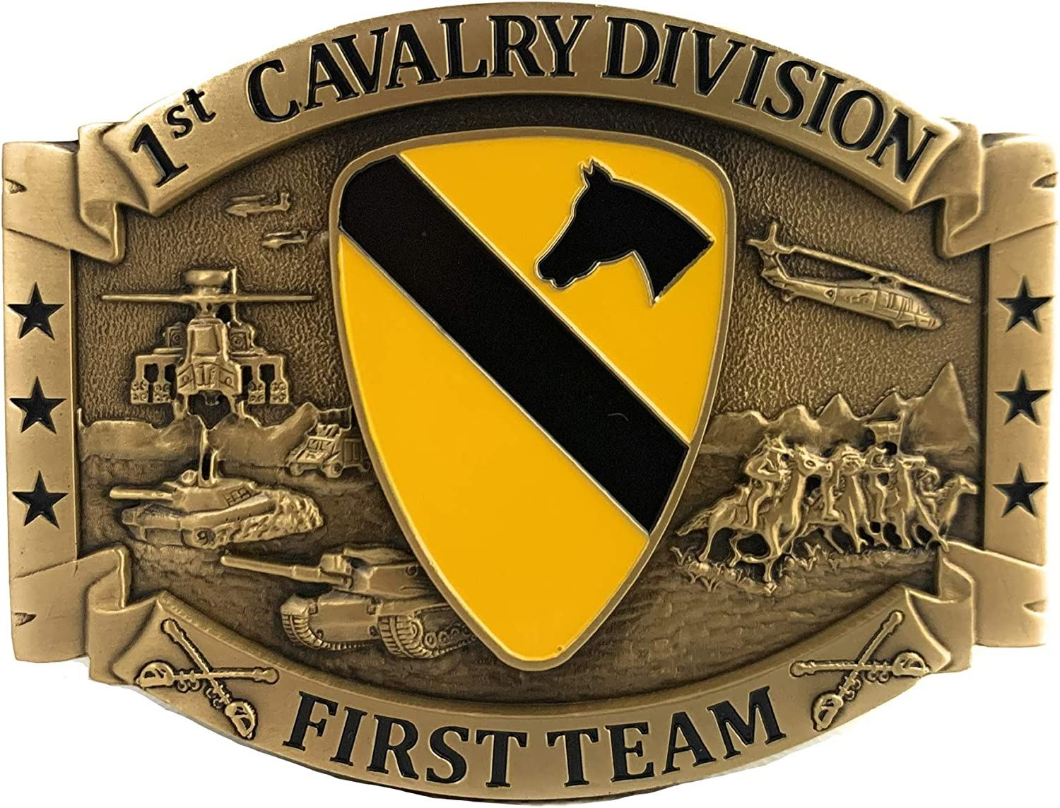 US Army 1st Cavalry Divison CSIB First Team Americas Solid Bro All Max 65% OFF stores are sold