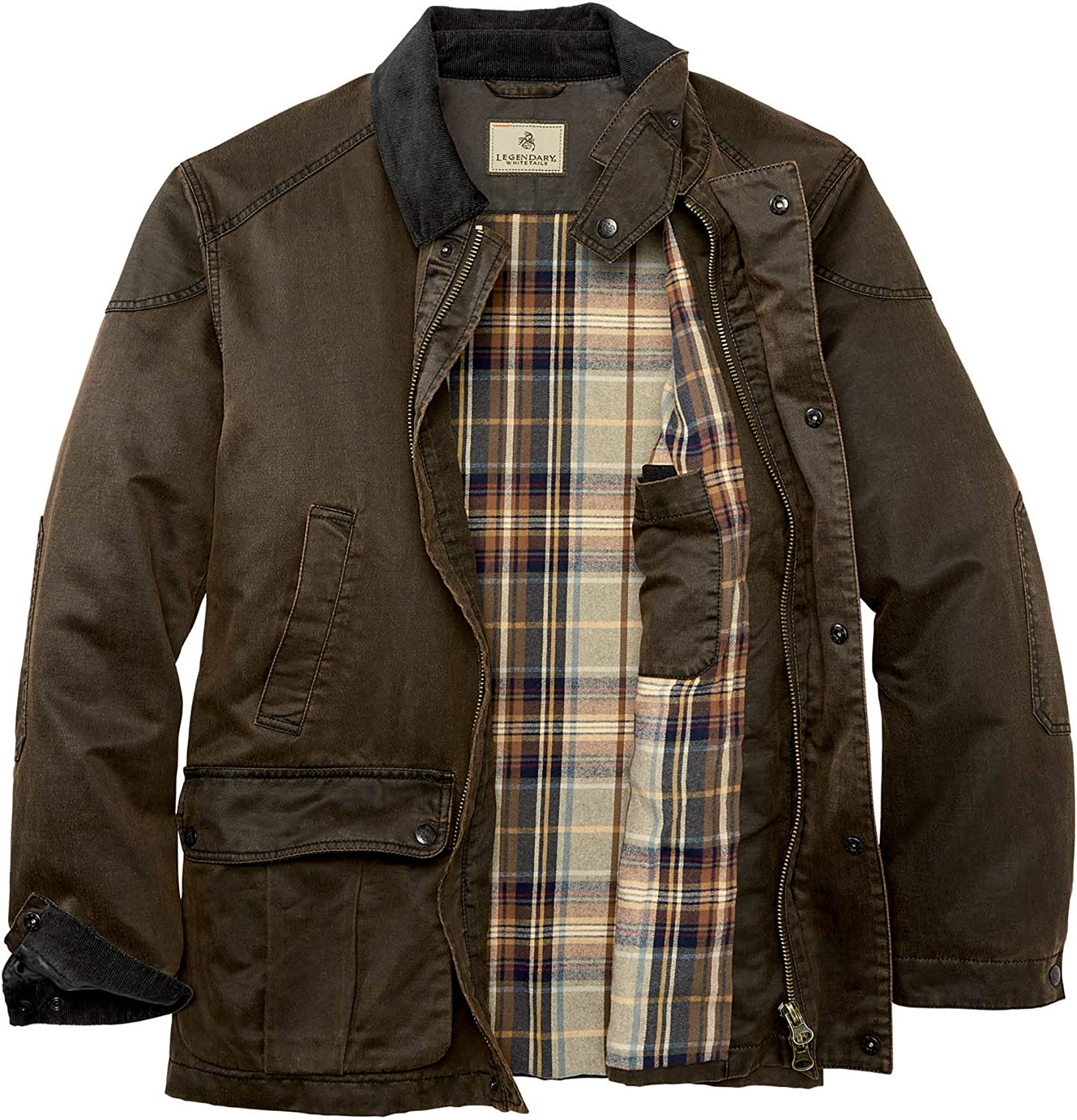 Legendary Whitetails mens Journeyman Field Guide Jacket Flannel Lined Snap Closure Regular Fit