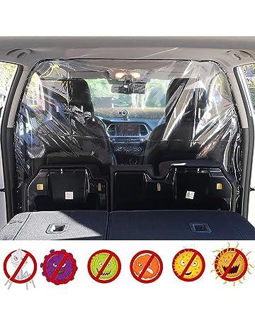 2PCS Car Protective Shield Cough and Sneeze Guard Car Barrier Partition Completely Wrap Transparent Automotive Isolation Film Cover Splash Prevention Partition Board