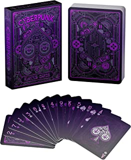 GulfDealz Cyberpunk Purple Playing Cards, Deck of Cards, Premium Card Deck, Cool Poker Cards, Unique Bright Colors for Kid...