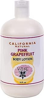 California Natural Pink Grapefruit Intensive Skincare V'TAE Parfum and Body Care 16 oz Lotion