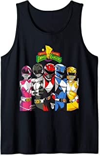 All Rangers In Separate Panels With Logo Tank Top