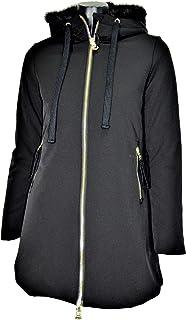 HOX Chaqueta de mujer XD4527 color negro con capucha forrada de piel sintética