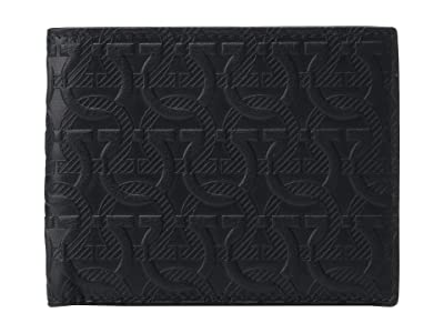 Salvatore Ferragamo Travel Embossed Bifold Wallet 66A639 (Black) Wallet Handbags