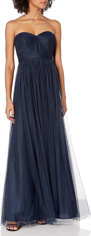 Jenny Yoo Womens Annabelle Convertible Tulle Column Dress