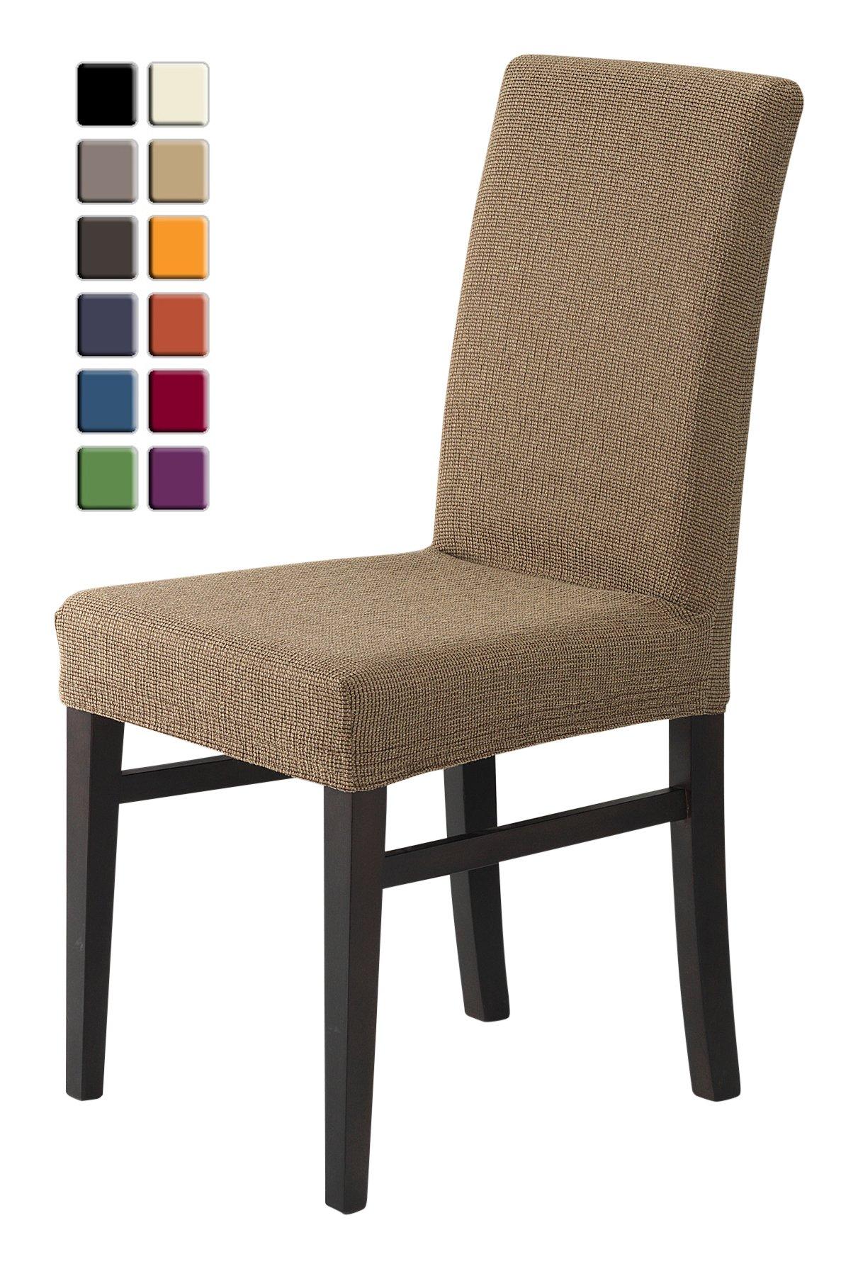 SCHEFFLER-HOME Zara Fundas de sillas 2 piezas, estirable Cubiertas ...