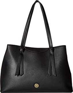 Anne Klein Womens Soft Knot East/West Tote