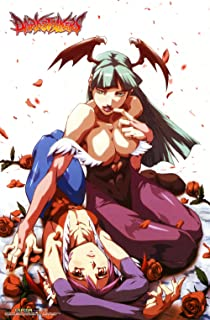 CWS Media Group CWS-27038 Darkstalkers Night Warriors Morrigan & Lilith Game Wall Scroll Poster