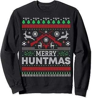 Deer Hunting Funny Merry Huntmas Ugly Christmas Sweatshirt