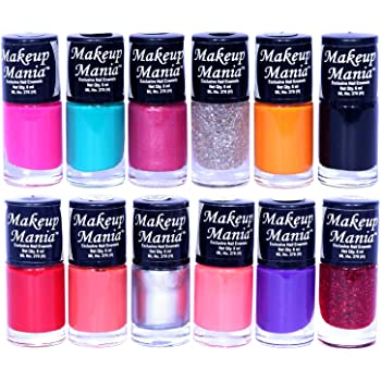 Makeup Mania Nail Polish Set of 12 Pcs, Nail Paint of 6ml each x 12 Pcs, MultiColor Combo Set No.5