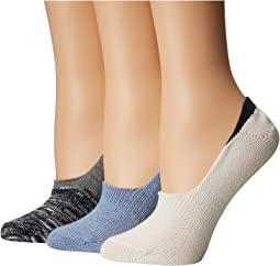 Steve Madden 3-Pack Marled Color Block Footie