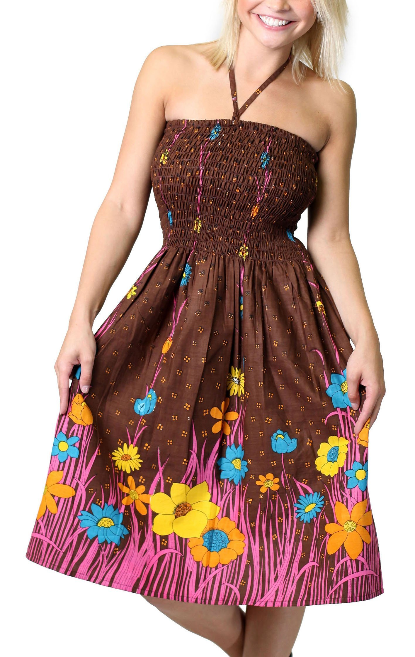 Available at Amazon: Alkii One-Size-fits-Most Tube Dress/Coverup - Flower Garden (Many Colors)