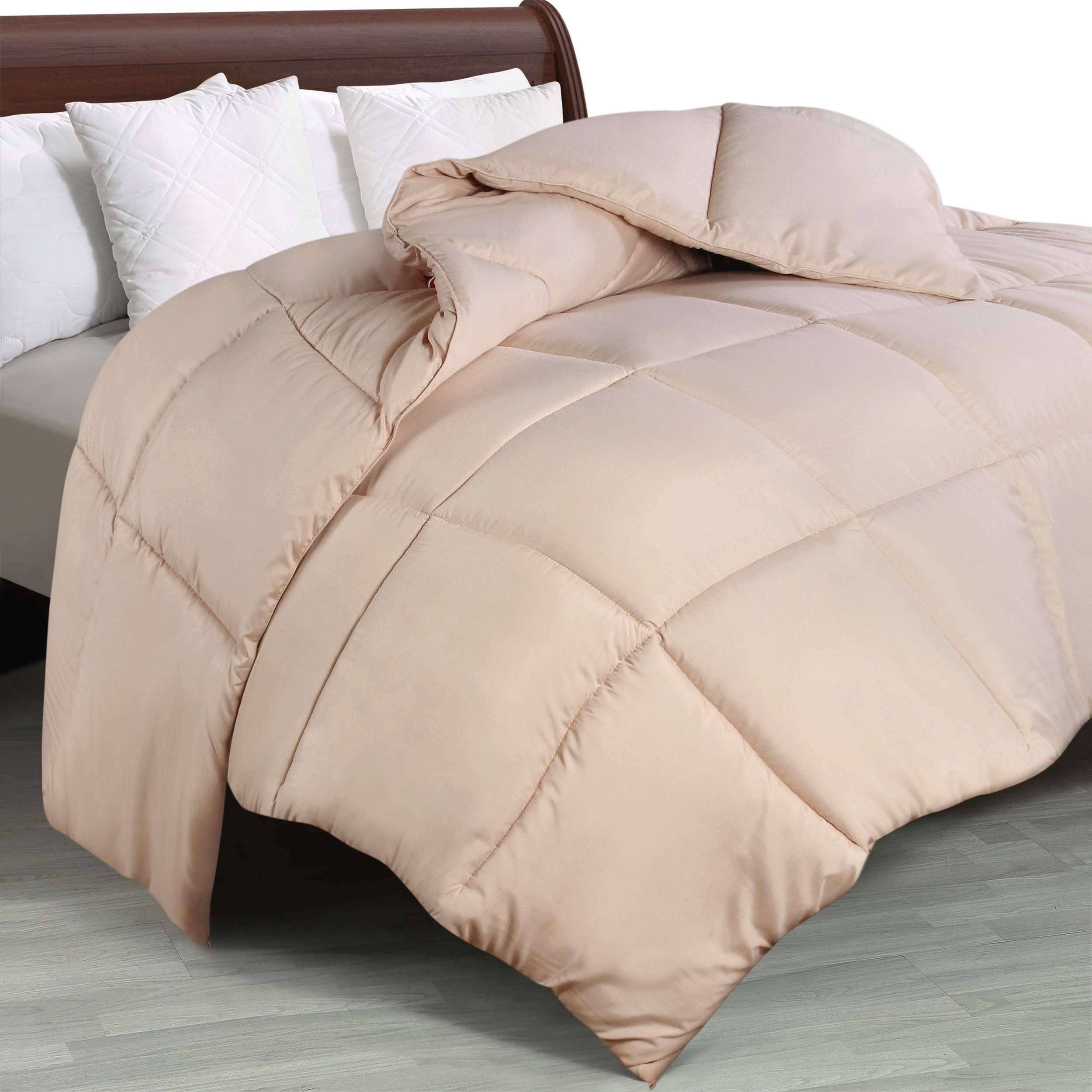 Utopia Bedding Comforter Duvet Insert - Quilted Comforter with Corner Tabs - Box Stitched Down Alternative Comforter (King...