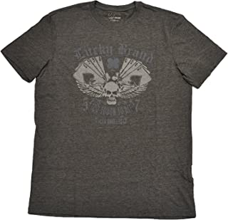 Lucky Brand Mens Grey Graphic T Shirt