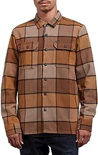 Volcom Men's Randower Modern Fit Woven Long Sleeve Button Up Shirt