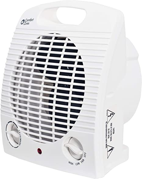 Comfort Zone CZ35 1500 Watt Portable Heater with Thermostat, White: image
