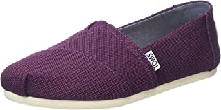 TOMS Women's Classics Black Cherry Poly Canvas Loafer