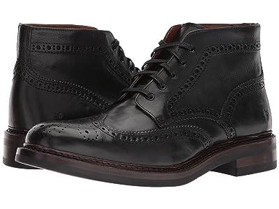 Frye Graham Brogue Chukka (Black Pull Up Leather) Men