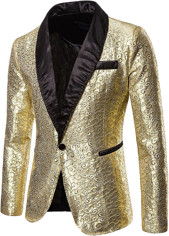 Men's Casual Suit Blazer Jackets Lightweight Long-Sleeve Classic-fit Stretch Blazer One Button Lapel Coats