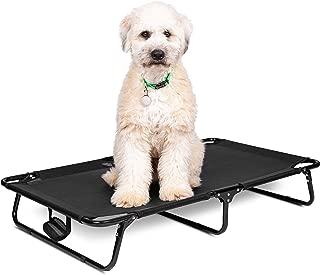 BIRDROCK HOME Elevated Dog Bed Cot - Steel Frame - Folding Pet Furniture - Lightweight & Portable - Easy Setup- Cool Breathable Mesh - Indoor or Outdoor Use