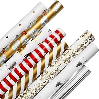 Diealles Shine Papier Cadeau, 8PCS 70x61CM Papier d'emballage Cadeau pour Présent Cadeau de Noël Anniversaire Valentines