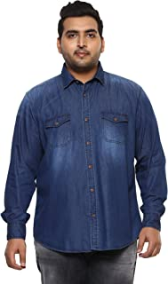 JOHN PRIDE Men Dark Blue Coloured Shirt (Sizes: 3XL- 6XL)