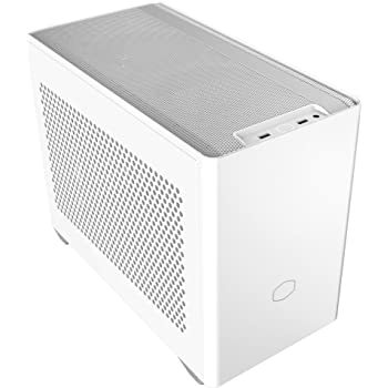 Cooler Master NR200 White SFF Small Form Factor Mini-ITX Case with Vented Panel, Triple-slot GPU, Tool-Free and 360 Degree Accessibility, Without PCI Riser