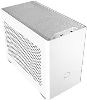 Cooler Master NR200 White SFF Small Form Factor Mini-ITX Case with Vented Panel, Triple-Slot GPU, Tool-Free and 360 Degree...