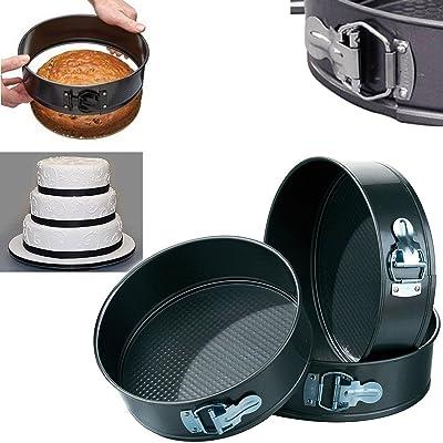 Homies International Brings 3 Pcs Small Medium and Large Size Round Non Stick Cake Pan Bakeware Springform Tray Pan Baking Cake Mould