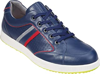 Southport Men's Golf Shoes Spiked SX8761 (Blue, 6.5)