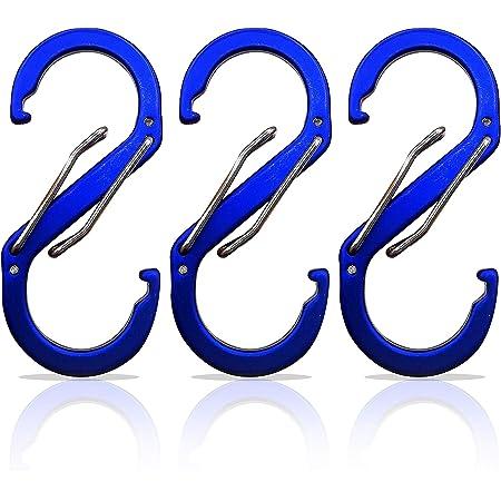 Domum 3 Stück S Karabiner Schlüsselanhänger Karabinerhaken Klein Mit 99 8 Kg Belastbarkeit Mini Schlüssel Karabiner Für Taschen Rucksack Camping Angeln Oder Reisen Schwarz Sport Freizeit