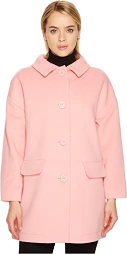 Boutique Moschino Puffer Paneled Peacoat