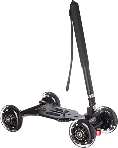 lowest Polaroid PL-STATT Rolling Mini Dolly Stabilization System With high quality Pole Handle For online sale Digital SLRs and Camcorders online
