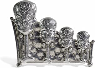 Roosfoos Pewter Calavera Measuring Spoons with Stand