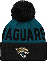 NFL Jacksonville Jaguars Infant Outerstuff Jacquard Cuffed Knit Hat With Pom, Team Color, Infant One Size