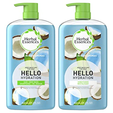 Herbal Essences, Shampoo & Body Wash + Conditioner, Paraben Free, Hello Hydration Moisturizing, 29.2 fl oz, Kit
